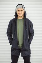 Мантия F&F Tyson Black (теплая черная мужская куртка осень ветровка)