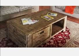 Large coffee table with drawers - 1200x800x450