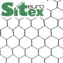Siatka hodowlana hexagon na woliery, ogrodzenia, PCV 20/0,9 zielona