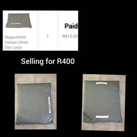 Dog items for sale: Beds, carrier and clothing