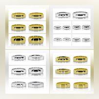 Polerowane Modele Przepięknych Złotych Srebrnych Obrączek Ślubnych