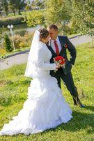 Продам шикарное свадебное платье бу (один раз одето)