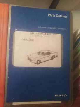 Volvo P1800, parts book with illustrations