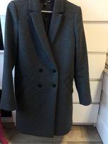 Płaszcz szary XS dyplomatka Zara wełna