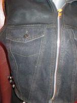на девочку жилет жилетка джинс черная капюшон коттон 146-152 рост 44р