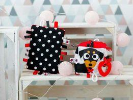 NOWA Kostka kontrastowa sensoryczna dla niemowlaka, zabawka edukacyjna