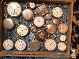 Часы старинные карманные ,разные,19в.=нач.20в.В осн. на хорошем ходу.