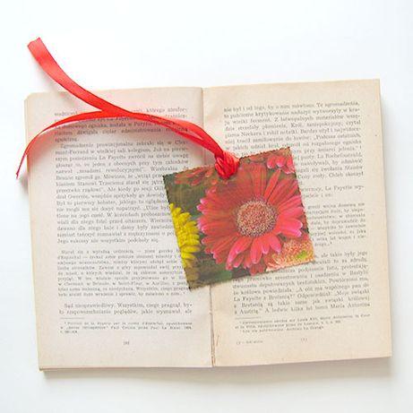 kwiatek zakładka do książki,gerbera zakładka do ksiązki, mała zakładka Siemianowice Śląskie - image 1