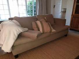 Taupe 2 seater couch