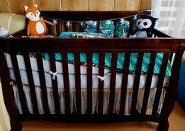 Łóżeczko 4 w 1 Lite Drewno z USA 140x70
