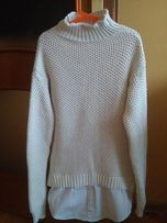Sweter z imitacją koszuli- rozmiar S