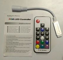 RGB контроллер светодиодн. освещения с упр. по радиоканалу+батарейка