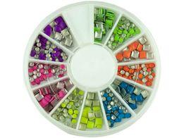 Ozdoby do paznokci mix kolorów 12 typów nowe