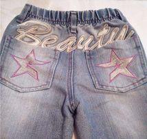 Джинсы со стильной вышивкой на девочку 3-4 года, рост 104,Gloria Jeans