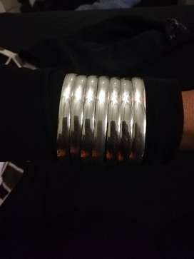 Sterling silver 8mil bangles