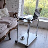 Журнальный столик для завтрака или ноутбука на роликах Новый Доставка