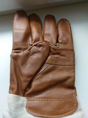 Кожанные рабочие перчатки хорошего качества