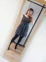 Rozkloszowana sukienka vubu w groszki retro styl s m