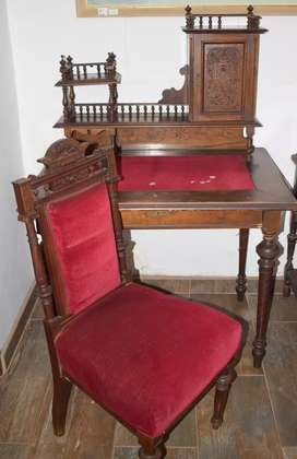 Continental Ladies Writing Desk and Chair