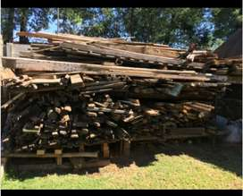 Various types and lengths of wood timber
