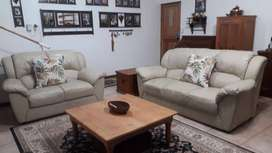 2 ×Genuine  Leather couches  (set)