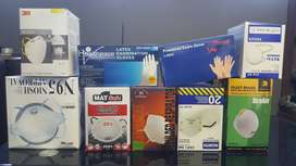 Dust masks an latex gloves for sale