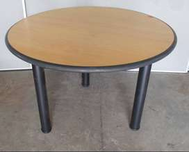 Beechwood round boardroom table