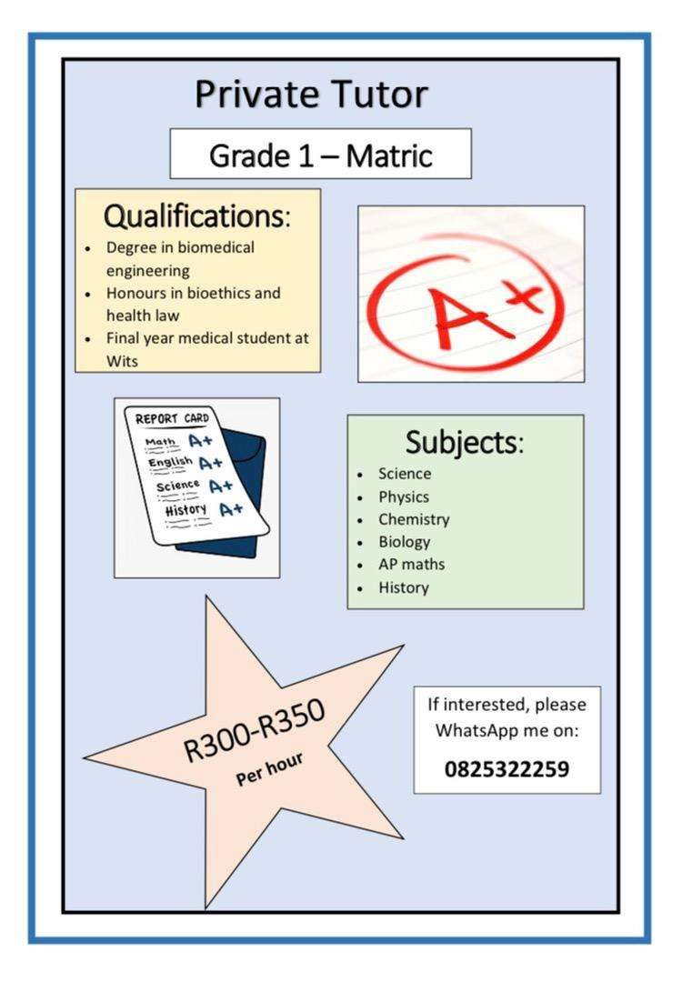Private maths and science tutor