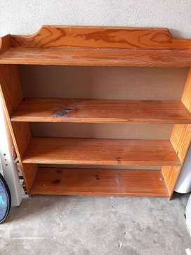 Pine Bookcases x2 (900mm length, 950mm height, 200mm width) R300-00 EA