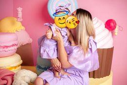 Платья family look, мама+дочка для фотосессии, Наряд малышке на годик.