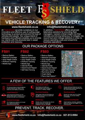 Affordable Vehicle Tracking and Recovery only R89.00 p/m