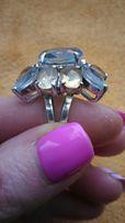 Перстень, ручная работа, серебро 925 пробы, камень Топаз, размер 17.