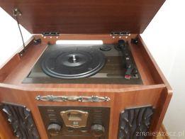 Radio Elta retro z gramofonem, magnetofonem, odtwarzaczem CD
