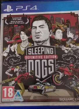 Sleeping dogs Definitive Edition for PS4 for sale.