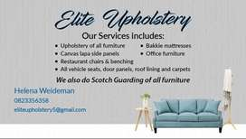 Upholstery of all furniture
