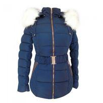 Зимняя женская куртка, темно-синего цвета