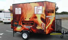 Mobile kitchen trailer available for delivery