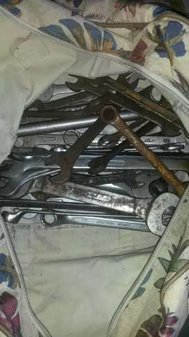 Mix bag of spanners