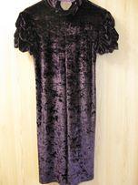 Женское платье 38 размера из бархата