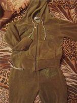 Спортивный фирменный велюровый костюм р. 104