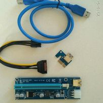 Райзер Riser Card PCI-E 1X to 16X v.009S, USB3.0 кабель