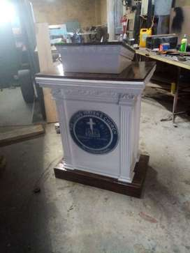 Stylish Wood Podium/ Pulpit For Church/ Online Services