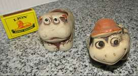 Hippo and Tortoise Clay Containers