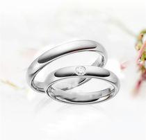 Śliczna Subtelna Para Srebrnych Obrączek Ślubnych