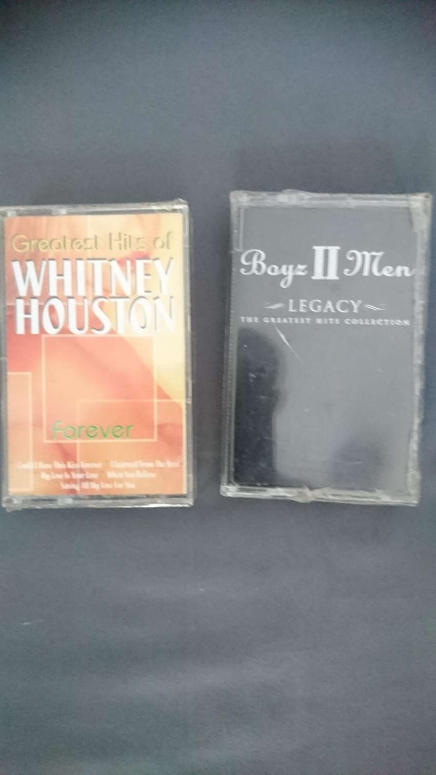 boys II men and Whitney Houston tape cassette for collectors