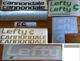 Cannondale / lefty bicycle frame and rim decals stickers vinyl graphic