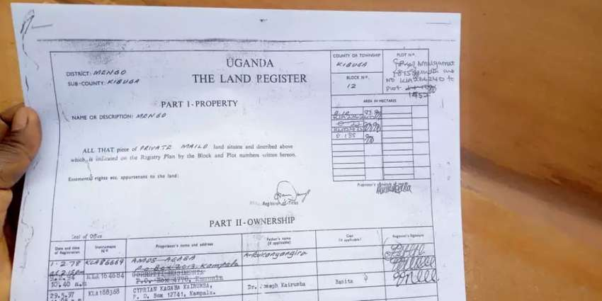 Hot 50 decimals of private mailo land in kisenyi at 900m no squatters 0