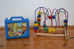 Zestaw zabawek dla dzieci- puzzle, drewniana przeplatanka