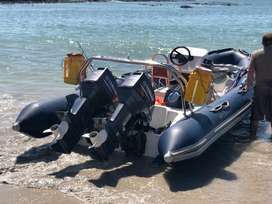 6.5 m Wildcat Rubber Duck 2x 70hp Yamaha