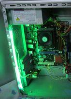 Цветомузыка с Микрофоном для системного блока с зеленой подсветкой